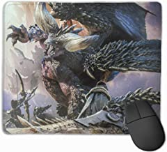 YanHill Large Monster Hunter Rectangle Non-Slip Rubber Mousepad Gaming Mouse Pad Waterproof Mouse Mat for Computers, Laptop, Office & Home, 9.8