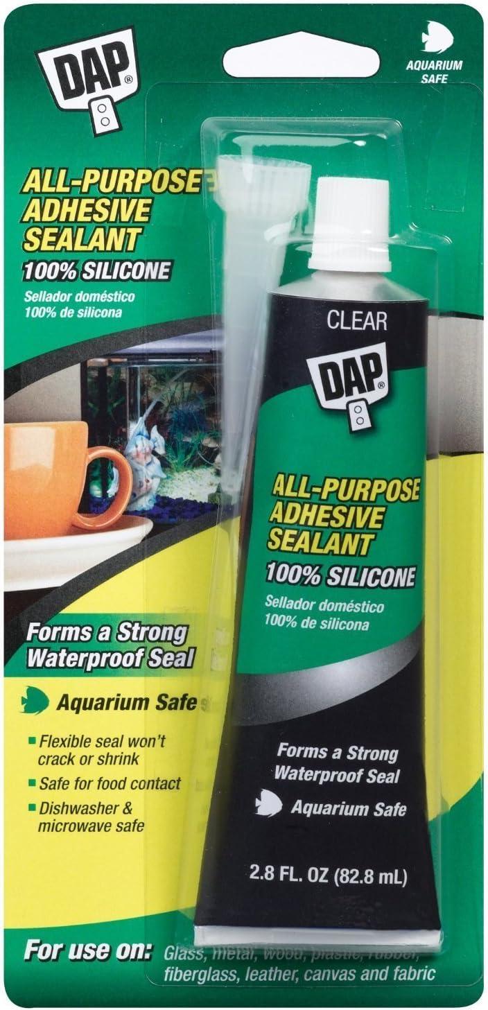Dap 00688 All-Purpose Columbus Mall Adhesive 2.8-Ounce 100% Choice Silicone Sealant