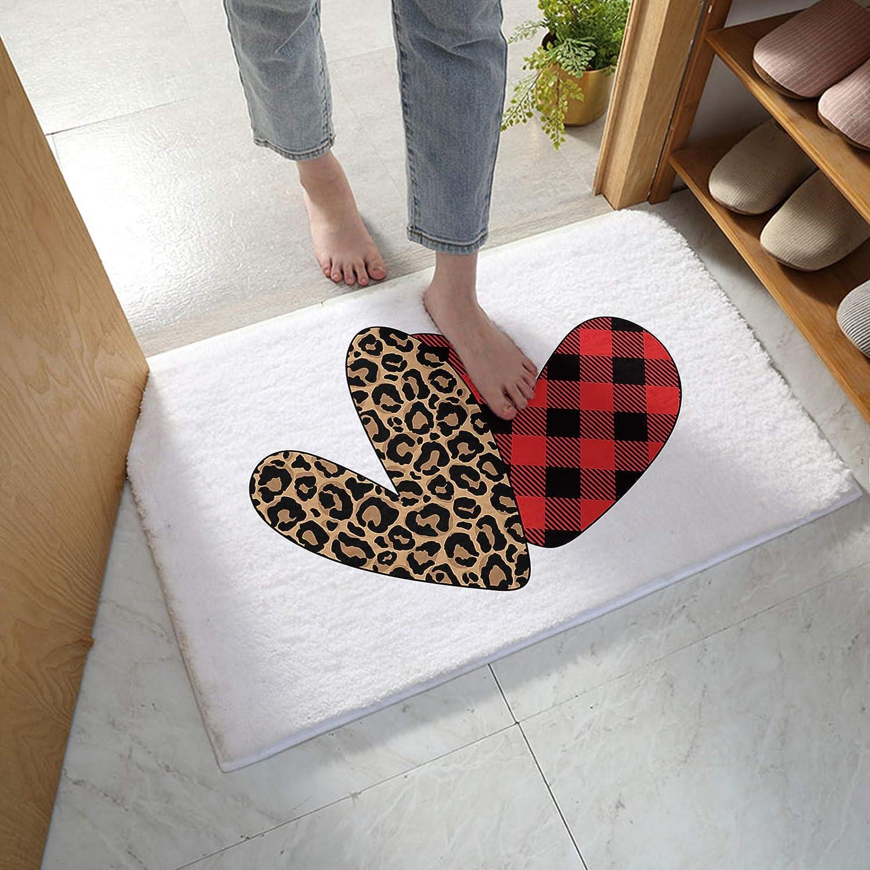 MuswannaA Bathroom Max 47% OFF Rug Bath Mat Re Print Valentine's Leopard Day Same day shipping