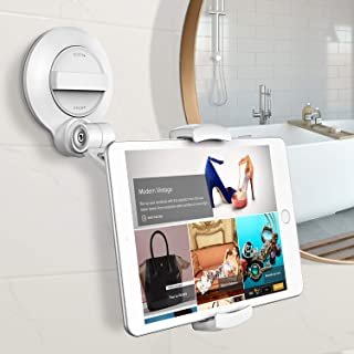 Matone Tablet Holder with Strongest Large Suction Cup, Universal Tablet Stand Phone Holder for iPhone iPad Series/Samsung Galaxy Tabs/Fire HD and More, Great for Mirrors/Windows/Walls