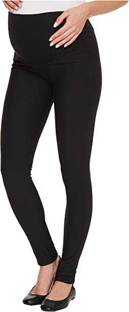 Plush - Maternity Fleece-Lined Cotton Over-Belly Leggings