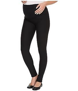 Maternity Fleece-Lined Cotton Over-Belly Leggings