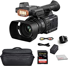 Panasonic AGAC30 Full-HD AVCCAM Handheld Camcorder with Built-in LED Light Bundle with SanDisk 64GB Extreme PRO Memory Card + Large Carrying Bag (AG-AC30)