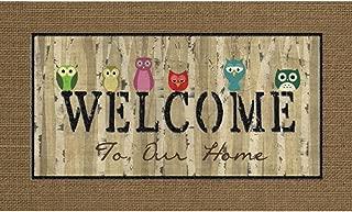 Masterpiece Welcome Owls Door Mat, 18-Inch by 30-Inch