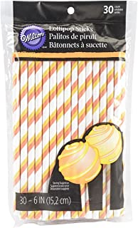 Wilton Candy Corn Striped Lollipop Stick, Assorted