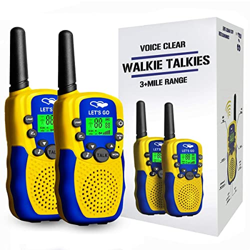 Tesoky Walkie Talkies for Kids, 3km+ Long Range Kids Walkie Talkies with 22 chanels Popular Hottest Outdoor Toys for 3-12 Year Old Kids Boys Girls-Best Gifts for Kids