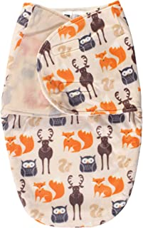 Hudson Baby Plush Swaddle Wrap, Forest, 0-3 Months