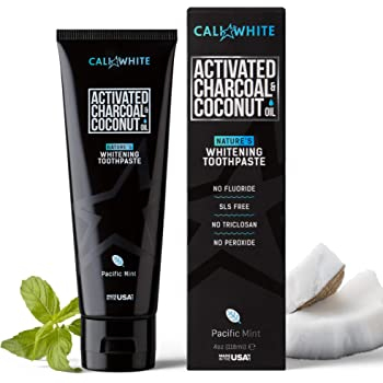 Amazon Com Cali White Activated Charcoal Organic Coconut Oil