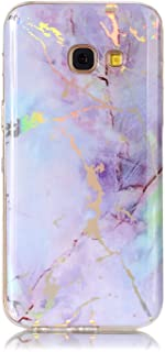 Samsung S7 Edge Holographic Marble Case, Galaxy S7 Edge Purple Opal Grunge Marble Case, Ultra Thin Sleek TPU Silicone Rubber Phone Cover for Samsung Galaxy S7 Edge Fashion Holo Iridescent Marble Cases