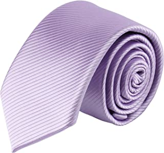 Jacob Alexander Boys Tone on Tone Corded Neck Tie - Lavender
