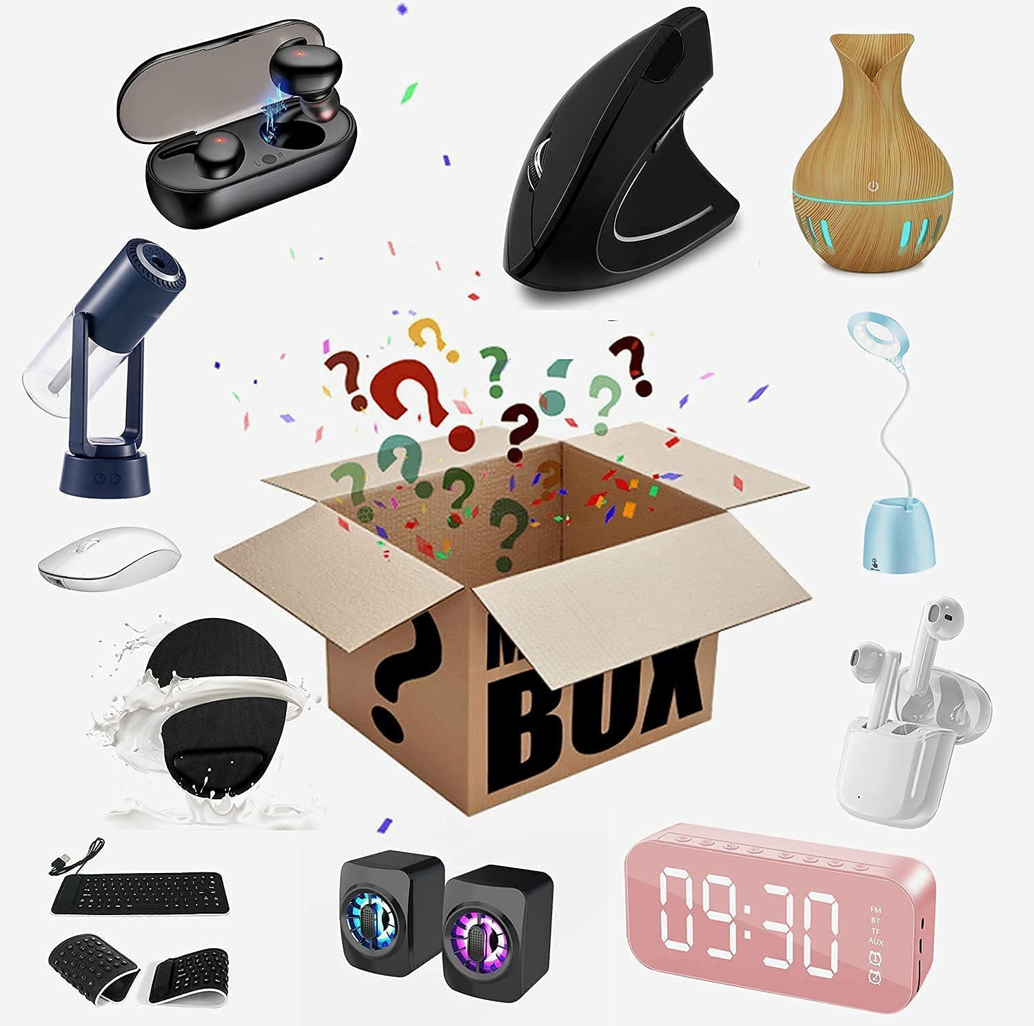 Mystery Lucky Box Max 69% OFFicial shop OFF Mysteries Boxes Myste Electronic