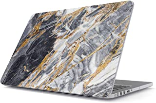 BURGA Hard Case Cover Compatible with MacBook Pro 13 Inch Case Release 2012-2015, Model: A1502 / A1425 Retina Display NO CD-ROM Black and Gold Marble Stone