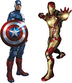 Marvel Superheroes Avengers Comic - Civil Wars - Captain America vs Iron-Man Giant Wall Decal Sticker bundle