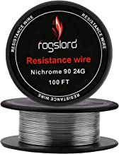 Resistance Wire Ni 90 100 ft 24 Gauge Nichrome 90 AWG 0.51mm 100'