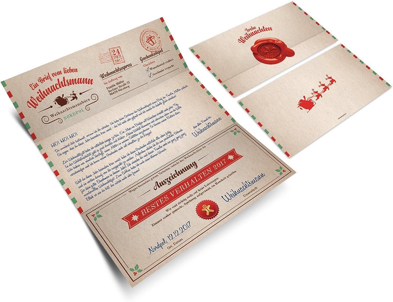 30 30 30 x Weihnachtskarten Familien Grußkarten Weihnachten - Brief vom Weihnachtsmann B076BRPL1Y    Elegante Form  29e228