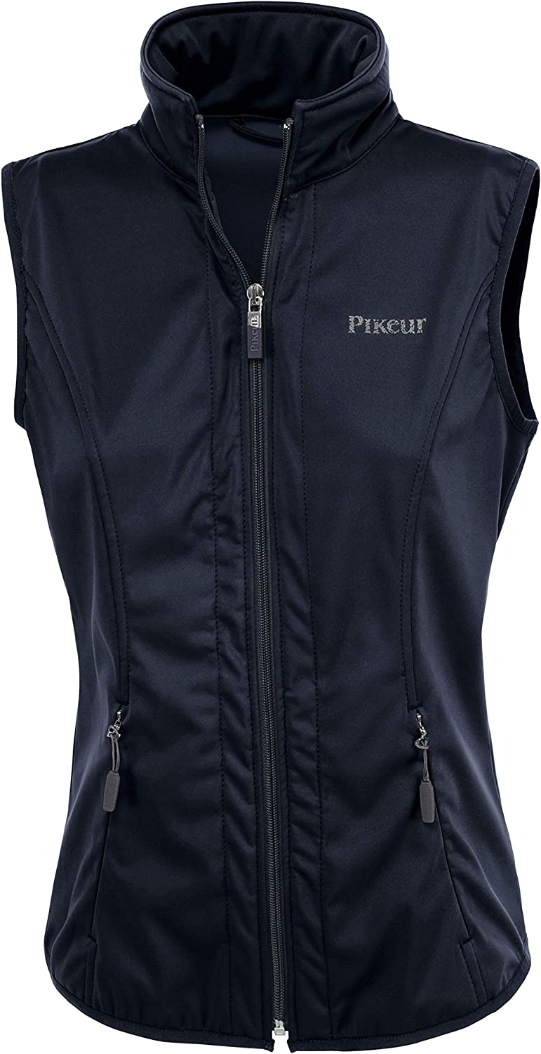 Pikeur whitea Ladies Softshell WaistcoatNavy bluee