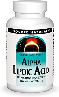 Source Naturals Alpha Lipoic Acid 200 mg Supports Healthy Sugar Metabolism, Liver Function & Energy Generation - 60 Tablets