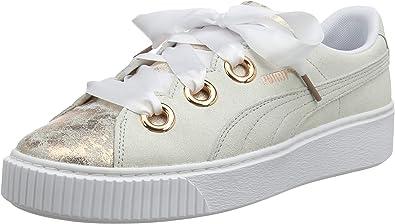 Puma Female Platform Kiss Artica Wn'S Low-Top Sneakers, Color: Puma White Puma White, Size: 37 Eu