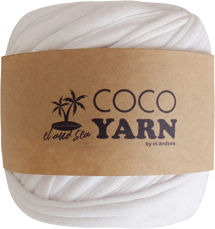 [L & Sea] TShirt Yarn White Handicraft Zupagetti Knitting 40m Handmade DIY Beginners