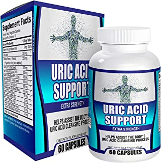 Natural Uric Acid Support Supplement Cleanse/Flush Reducer - Supplements - 60 Capsules