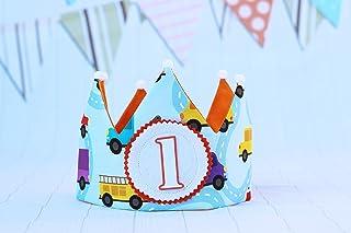 Decorazione di compleanno, corona in tessuto per neonati e bambini