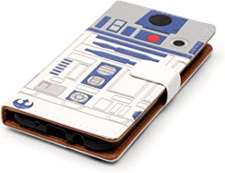 Galaxy J7 Refine/J7 2018/J7 Star/J7 Top/J7 Aura/J7 Aero Case - R2D2 Astromech Droid Robot Pattern PU Leather Wallet Case Stand Cover with Cash Card Slots for Samsung Galaxy J7 V 2nd Gen