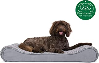 Furhaven Pet Dog Bed | Therapeutic Ergonomic Luxe Lounger Cradle Mattress Pet Bed w/..