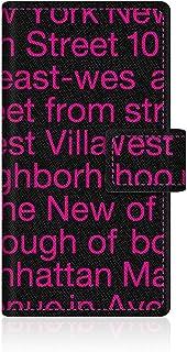 【apple iPod-touch5 アイポッド タッチ 第5世代】 【手帳式ケース】 CaseMarket オリジナル デザイン スリムケース 手帳型 ケース [New York Typography - ピンク スリム ダイアリー]