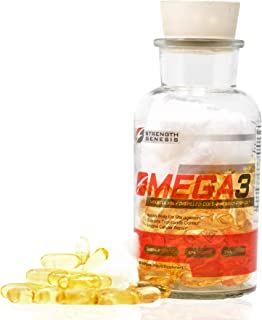 Strength Genesis Fish Oil Omega 3 5000mg EPA DHA, Cold Pressed Omega 3 Fish Oil Molecularly Distilled Cold ...