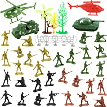 Nexxxi 60 Pcs Army Toys Set World War II Soldiers Plastic Army Men for Kids
