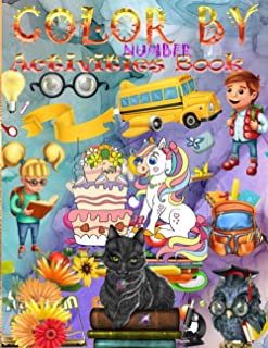 Color By Number Activities Book: Check out the NEW Math Game. It is a full Addition math activities Book game called Mage ...