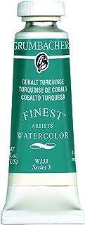 Grumbacher Finest Watercolor Paint, 14 ml/0.47 oz, Cobalt Turquoise