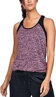 Under Armour UA Womens Tech Color Block Sports Gym Vest - Black/Pink - XS