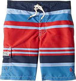 8700955904 Red Multi. 20. Polo Ralph Lauren Kids. Kailua Striped Swim Trunks ...