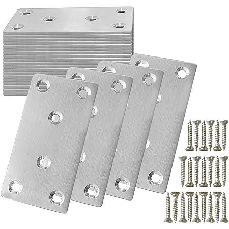 Heavy Duty Straight Galvanised Steel Perforated Flat Bracket Join Plate Mending