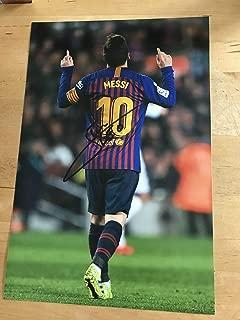 LIONEL MESSI Signed 12 X 8 Inch Soccer Photograph. Genuine Autograph. COA!