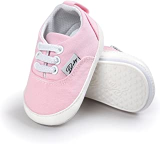 Baby Boys Girls Shoes Canvas Toddler Sneakers Anti-Slip Infant First Walkers 0-18 Months