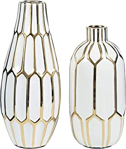 Signature Design by Ashley - Mohsen Vase Set - Gold Finish