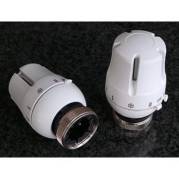 Wei/ß Danfoss 013G6080 RAX-K White Design Heizk/örperthermostat
