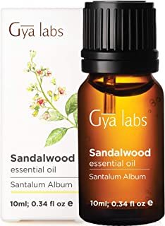 Gya Labs Sandalwood Essential Oil for Skin Care and Focus - Topical for Dry, Irritated Skin - Sandlewood Oils Essential fo...