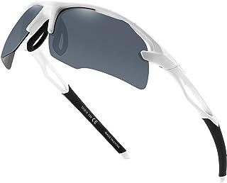 عینک آفتابی مردانه ورزشی Polarized -UVA / UVB Protection -TR90 قاب نشکن - ایده آل برای دوچرخه سواری در حال دویدن