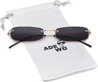 f15a6e25ff4a Rectangle Rimless Sunglasses Brand Designer Small Frame Eyeglasses Ocean  Lens unisex