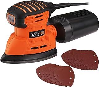 comprar comparacion TACKLIFE Lijadora Eléctrica, 12000RPM 130W Lijadora Mouse para Madera con Recogida de Polvo, Conectada a Aspiradora de 35m...