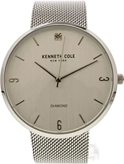 Kenneth Cole Mens Quartz Watch, Analog Display and Stainless Steel Strap KC50638001