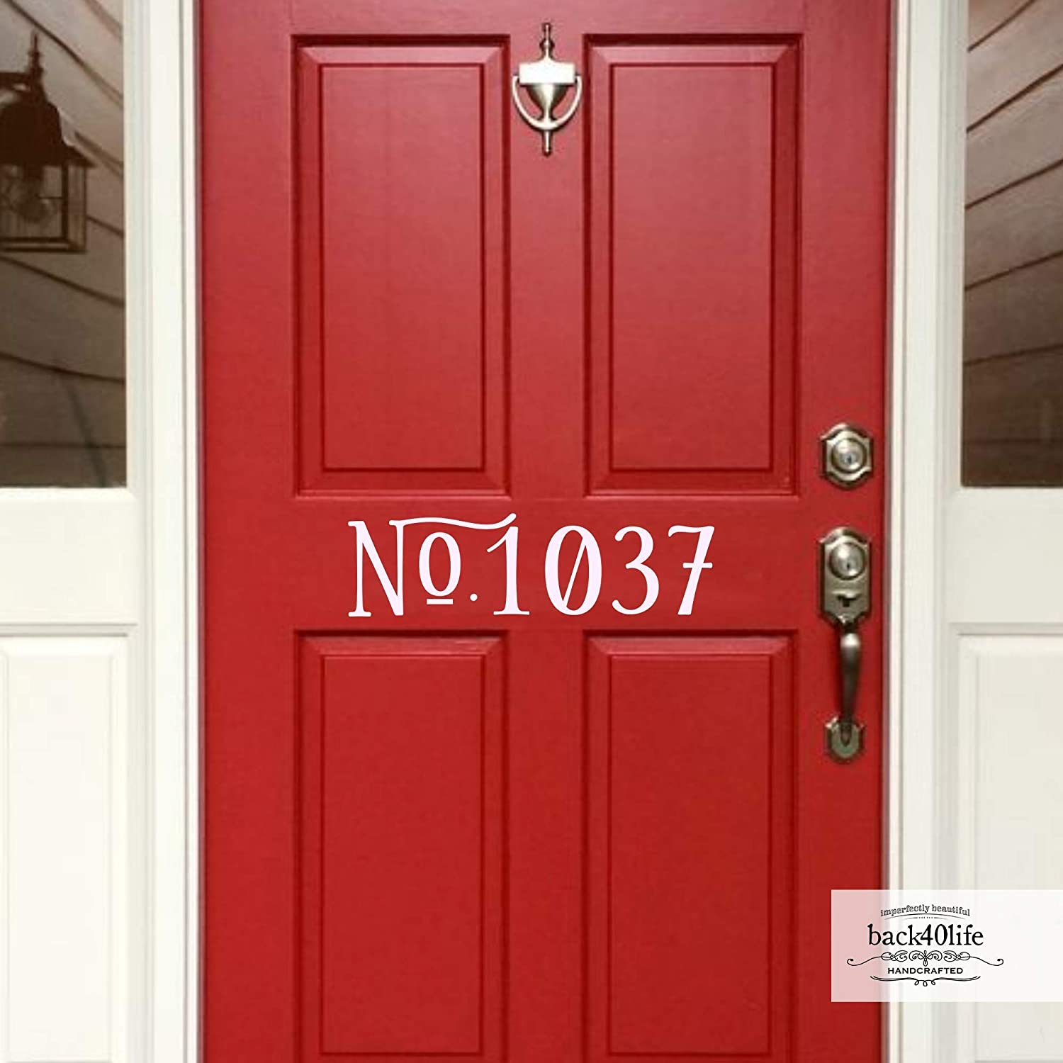 Back40life - House Number Cash special price Decal E-002g Gorgeous Door