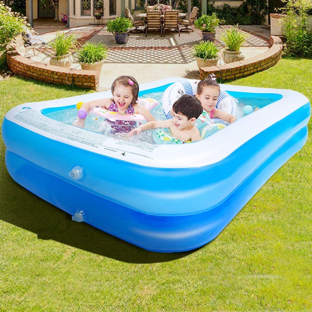 Family Inflatable Swimming Pool Super Special Now free shipping SALE held 120x72x20inch Inflat Full-Sized