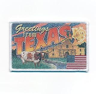 90 x 58 mm Texas Dallas Retro Nostalgie Patch USA Edel Aufnäher Aufbügler 0739 B