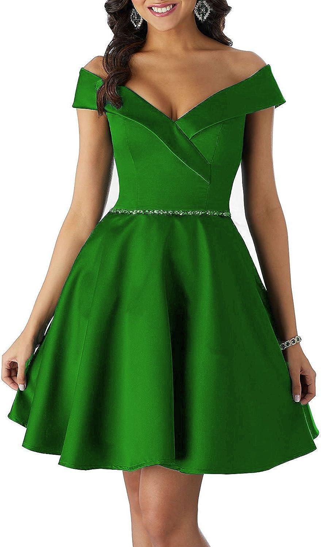 JQLD Short Homecoming Dresses 2018 Double V Neck Beaded Satin Cap Sleeve Prom Dress