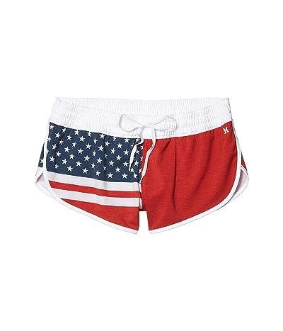 Hurley Phantom True Blue Beachrider Swim Shorts (Gym Red) Women