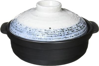 石目なごり雪 土鍋 10号 IH対応 4-5人用 深鍋 鍋 直火可 美濃焼